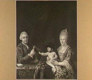 Portret van Hendrik Balthasar van Halteren (1730-1802) met zijn echtgenote Cornelia van Poot (1733-1797) en hun zoontje Daniel van Halteren (1771-1828)