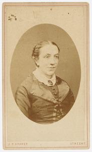 Portret van Rosine Alexandrine Frederique van der Hegge Spies (1835-1914)