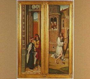 David speelt harp voor Abigaïl