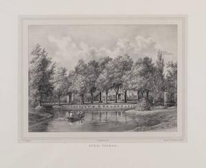 Park met vijver en doorkijk naar de hofstede Overvoorde