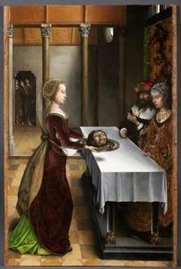 Salome brengt Herodias het hoofd van Johannes de Doper (Miraflores-altaarstuk)