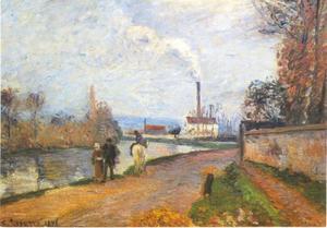 De rivier Oise bij Pontoise