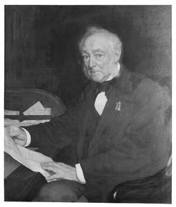 Portret van Jacob Andreas Vaillant (1817-1898)