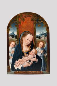 Maria met kind en engelen