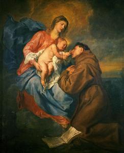 Het visioen van Antonius van Padua
