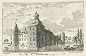 Huis Winnenthal bij Xanten van achteren gezien