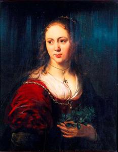 Portret van Eva de Geest