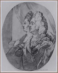 Dubbelportret van Johann Wilhelm van de Palts en Anna Maria de Medici