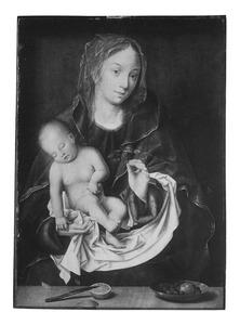Maria met slapend kind op de arm