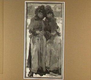 Twee meisjes in de sneeuw
