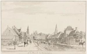 Gezicht op Groningen vanaf het Hoendiep