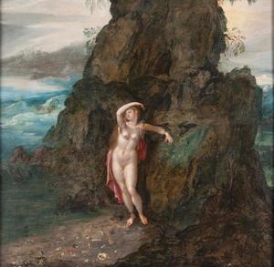 Andromeda een de rots geketend