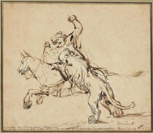 De ongehoorzame profeet aangevallen door een leeuw