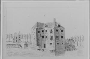Rechter- en achterzijde van Rijnestein bij Jutphaas