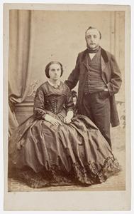 Portret van Jan Adriaan van Vollenhoven (1824-1897) en Catharina Gips (1835-1917)