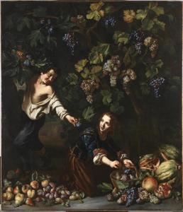 Jongeren fruit plukkend
