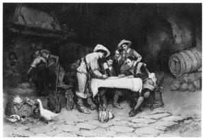 Gokkers in een kelder