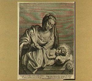 Maria biddend bij slapend Christus-kind