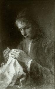 Vrouw die naait