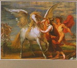Minerva temt Pegasus met de hulp van Mercurius