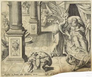 De drie wijzen worden in een droom door een engel gewaarschuwd om niet naar Herodes terug te keren