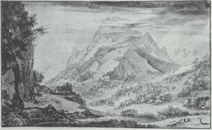 Gezicht op de Alpen
