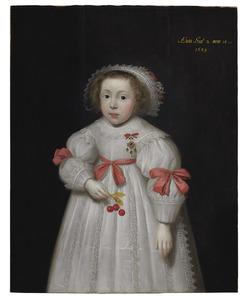 Portret van een meisje, 2 jaar en 10 maanden oud