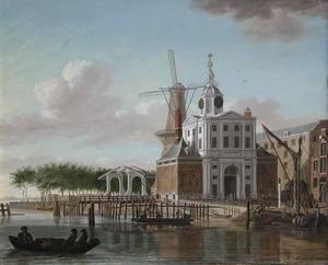 Gezicht op de Wester Nieuwehoofdpoort te Rotterdam