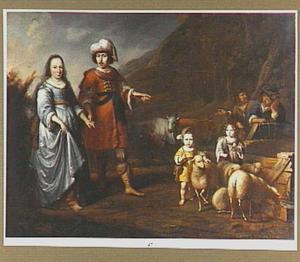 Familieportret in arcadisch landschap