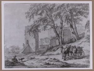 Duinlandschap met ruïnes
