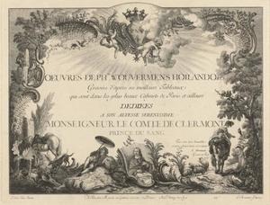 Titelpagina: 'Oeuvres de Ph. Wouwermans Hollandois'
