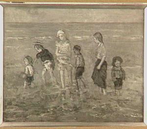 Pootje baden aan het strand
