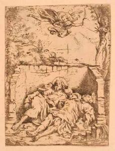 De lichamen van Petrus en Paulus in hun graf