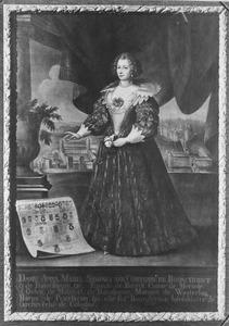 Portret van Anna Maria Sidonia van Bronckhorst en Batenburg (1601-1646)