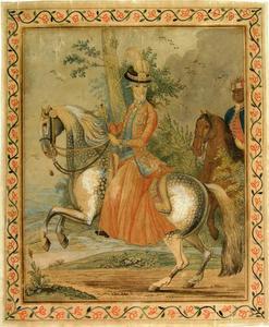 Ruiterportret van Wilhelmina van Pruisen (1751-1820)