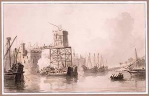 De bestorming van de toren bij Damiate op 24 augustus 1218