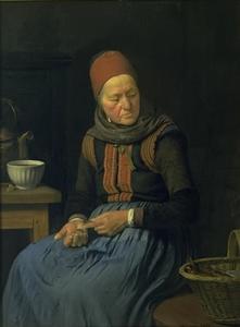 Een oude vrouw uit Amager