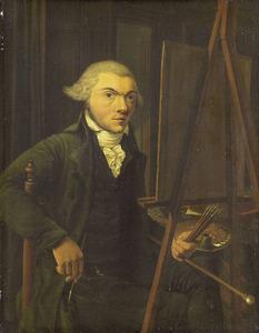 Portret van een schilder, vermoedelijk Harmanus Uppink