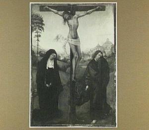 De kruisiging met Maria en Johannes de Evangelist