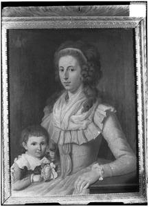 Dubbelportret van Wilhelmina Anna Cornelia de Pagniet (1765-1806) en Antonie Frederik Jan Floris Jacob van Omphal (1788-1863
