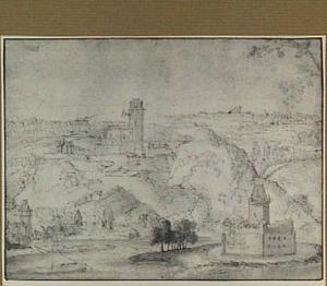 Kaub aan de Rijn, op de achtergrond kasteel Gutenfels