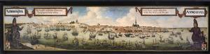 Gezicht op Arnemuiden anno 1550