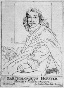 Zelfportret van Bartholomäus Hopfer II (1628-1699)