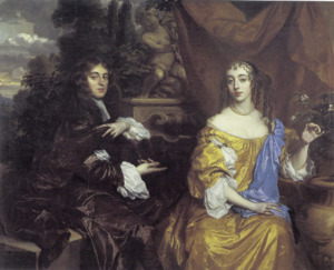 Dubbelportret van Henry Hyde, 2nd Earl of Clarendon (1638-1709) en zijn eerste vrouw Theodosia Capell, Viscountess Cornbury (?-1661)