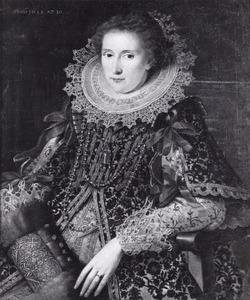 Portret van Catharina van Liauckama (1592-1656)