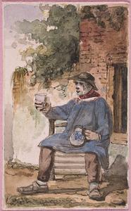 Drinkende boer