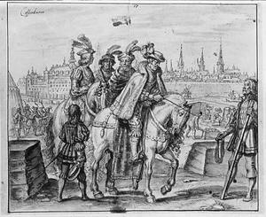 Koning Frederik I van Denenmarken inspecteert de fortificaties van Kopenhagen in 1523