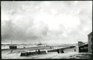Strandgezicht bij de Zwaan