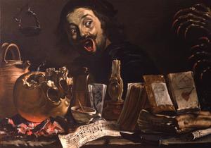 Zelfportret met hekserij-attributen