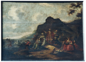 Mozes sluit de Rode Zee boven het leger van farao (Exodus 14)